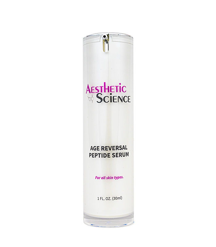 Age Reversal Peptide Serum by Aesthetic Science professional skincare product sold by Around the Body Skin Solutions