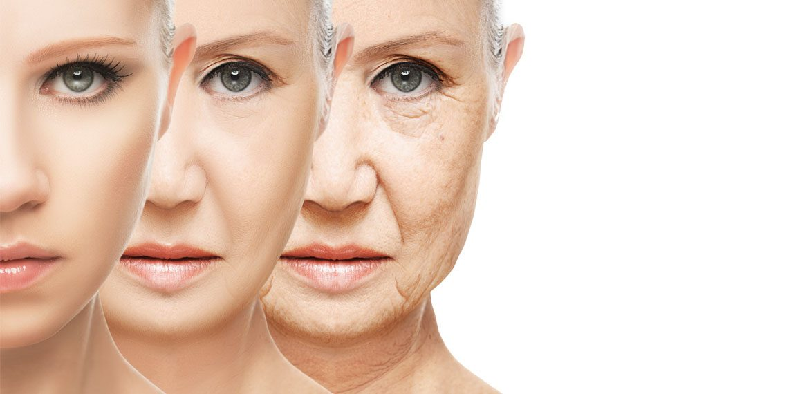 Woman's transformation through aging in Around The Body Skin Solutions blog 'Fighting Your Skins' Aging Process' and tips to help improve your skin against age