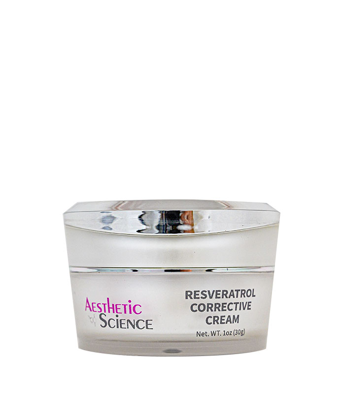 Resveratrol Corrective Cream by Aesthetic Science professional skincare product sold by Around the Body Skin Solutions