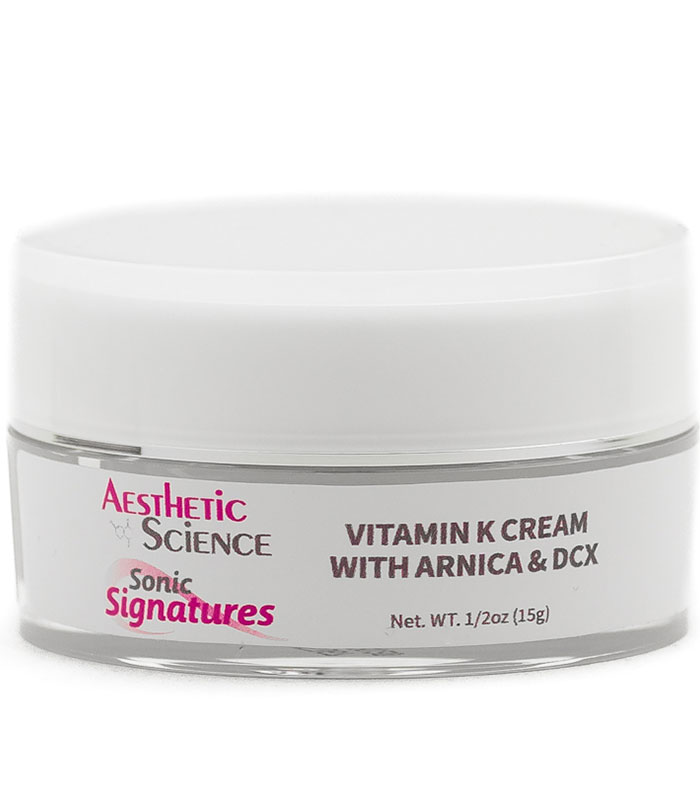Vitamin K Cream with Arnica & DCX by Aesthetic Science professional skincare product sold by Around the Body Skin Solutions