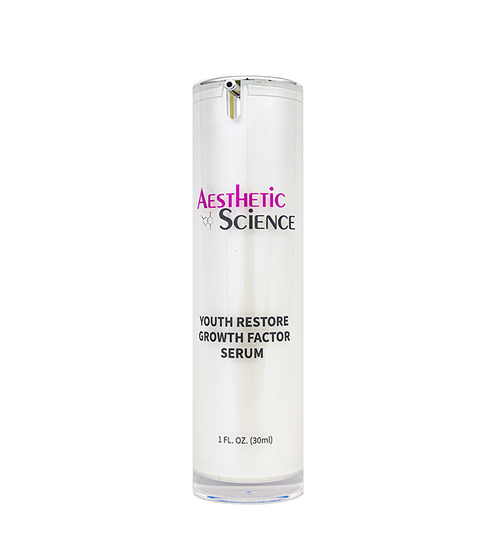 Youth Restore Growth Factor Serum by Aesthetic Science professional skincare product sold by Around the Body Skin Solutions